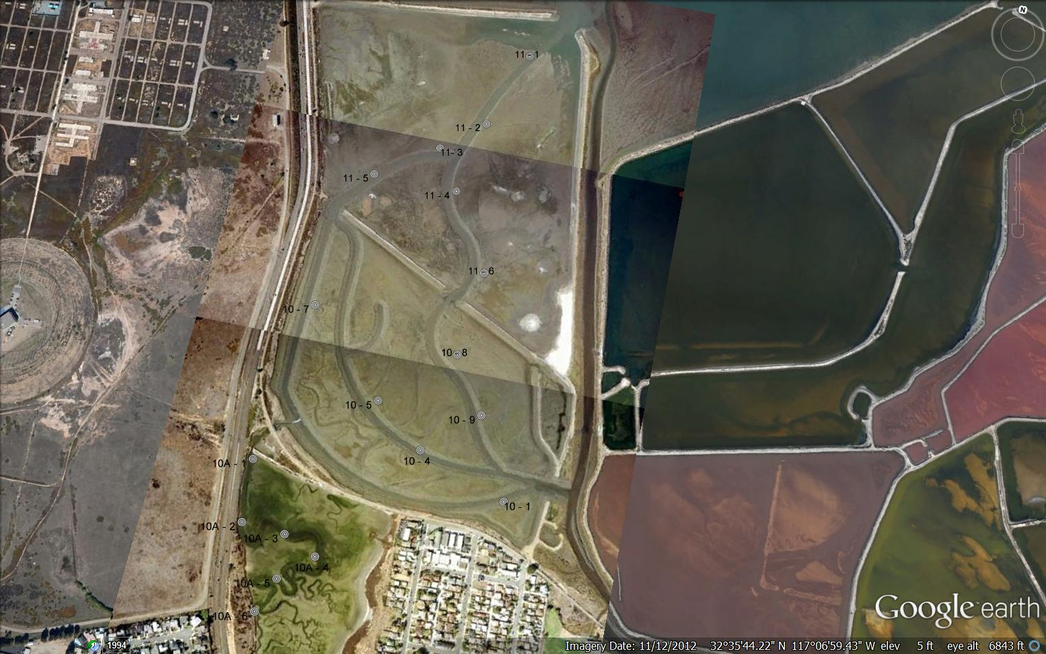 San Francisco Neighborhood Map Google%0A salt ponds aerial