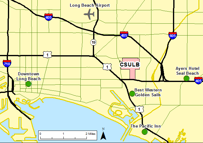 Cal State Long Beach Map on