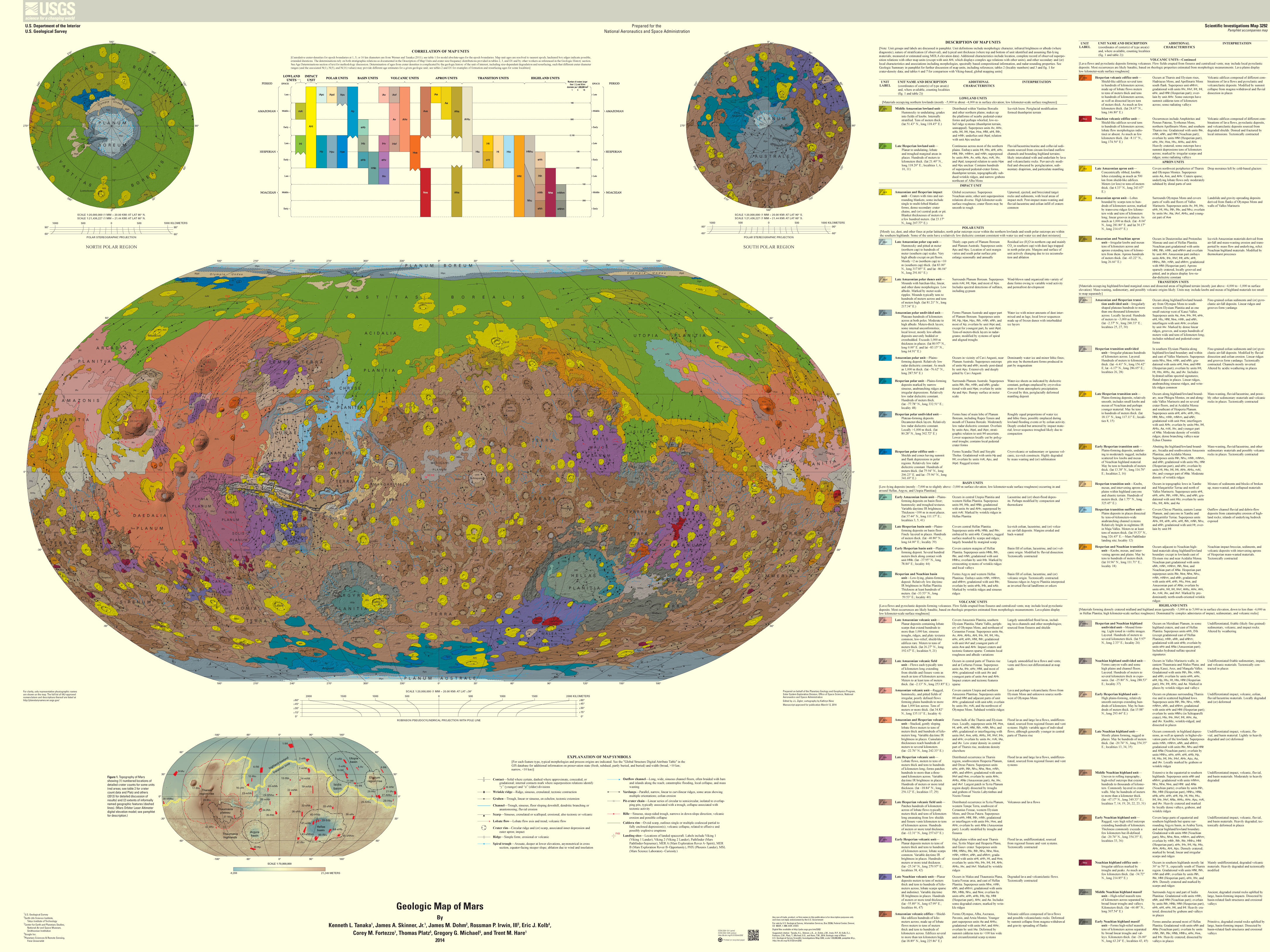 The geography of mars httpwebulbrodriguegeog441541geolmapsmarsgeolmap3292g the 1986 87 mars global geological map gumiabroncs Images