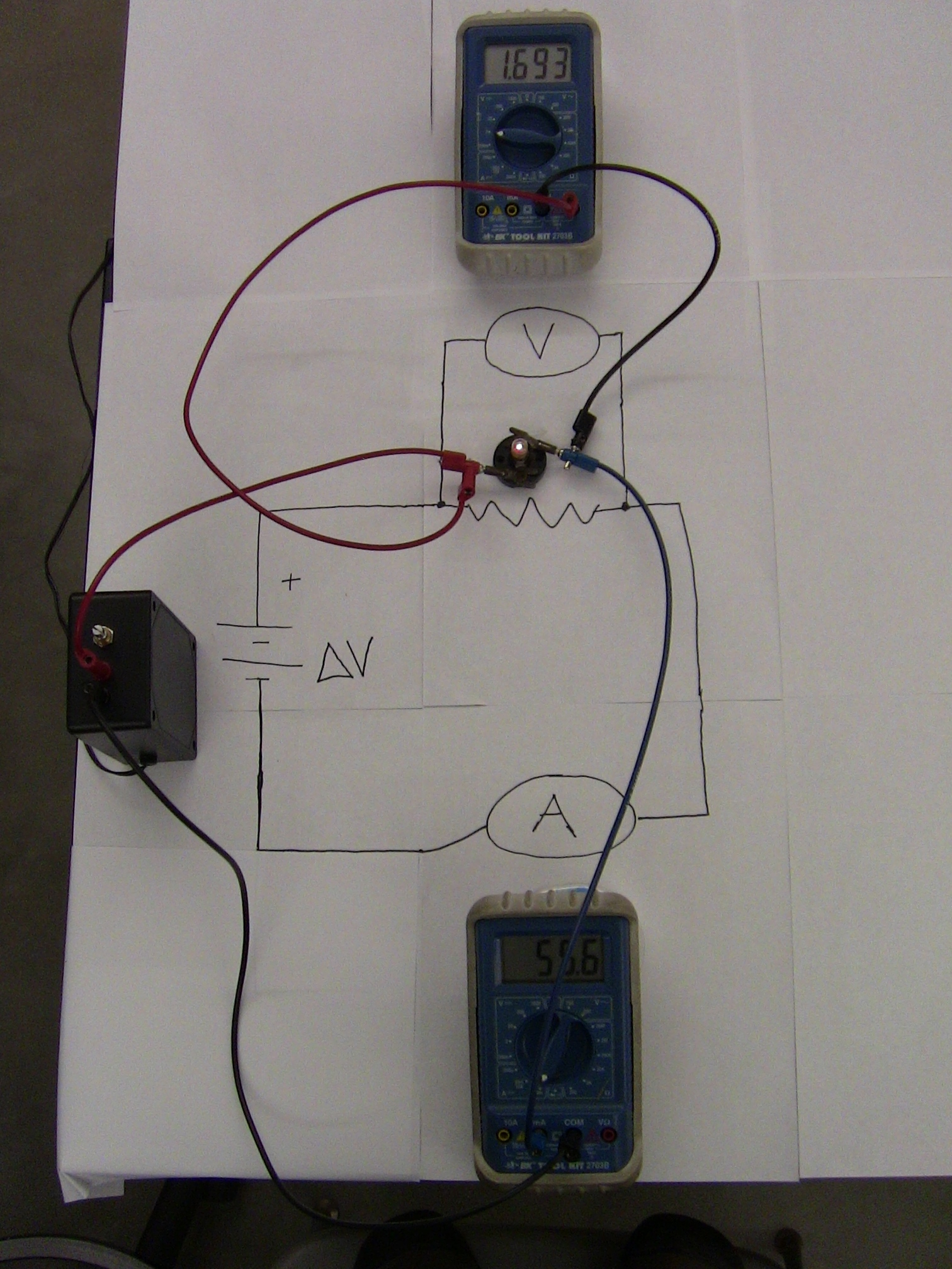 Lab Experiments Demonstrated Experiment 6 Resistors In A Series Circuit Ii Resistance Of Light Bulb Photo Jpeg
